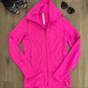 Lululemon High Neck Zip Jacket Pink